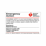 90-1059 AHA Emergency Action Wallet Card - 50 Pack
