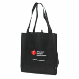 90-1500 AHA Blk Recycled Tote Bag
