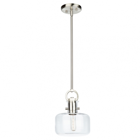 AC10122SN SINGLE SM CLEAR GLASS PENDANT