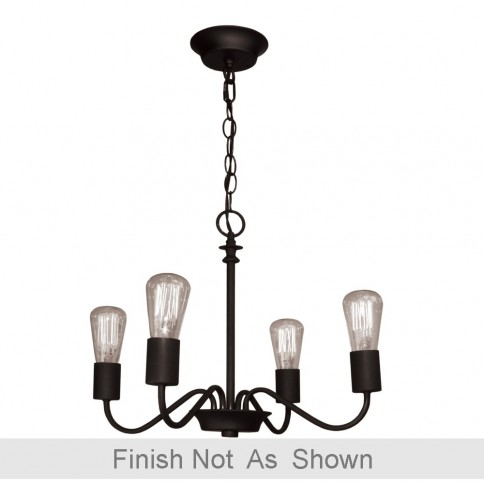 AC10434BN Vintage 4 Light  Brushed Nickel Chandelier