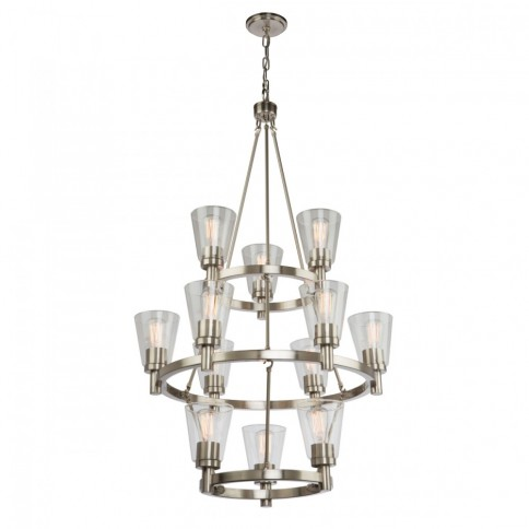 AC10762BN CLARENCE 12 LT 3 TR CHANDELIER