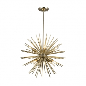 AC11443 SUNBURST 8LT SPHERE CHANDELIER