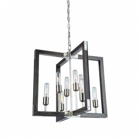 GATEHOUSE 8 LT CHANDELIER