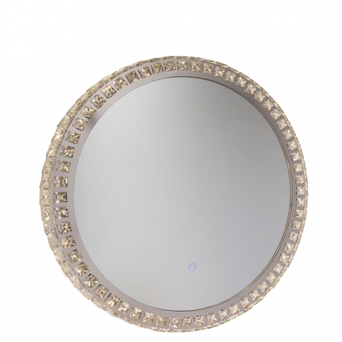 AM302 REFLECTIONS ROUND CRYST MIRROR