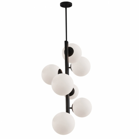 SC13221BK MOONGLOW 7 LT CHANDELIER