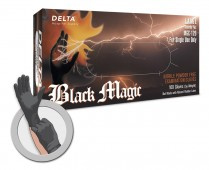 Black Magic 6 Mil Black Nitrile Exam Glove