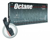 Octane 5 Mil Black Nitrile Exam Glove