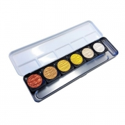 Finetec Pearlescent Mica Watercolor 6 Color Set