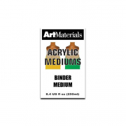 art materials binder medium 8 ounces