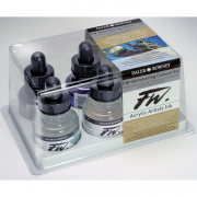 Daler Rowney FW Artists Acrylic Shimmering Ink Set