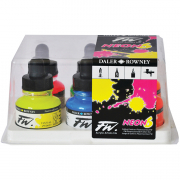 Daler Rowney FW Artists Acrylic Fluorescent Ink Set