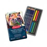 Derwent Watercolor Collection 12 Piece Metal Tin