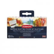 Derwent Inktense Paint Pan Travel Set of 12 #2