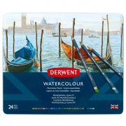 Derwent Watercolor Pencil Tin of 24