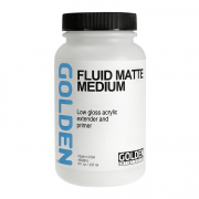 golden acrylic fluid matte medium 8 ounces
