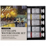 GRM33-CITY M. Graham Cityscape Artists 5 Color Watercolor Set
