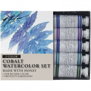 GRM33-LE3 M. Graham Cobalt Mix Artists 5 Color Watercolor Set