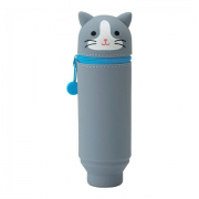 punilabo pen case upright gray cat
