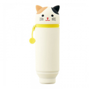 punilabo pen case upright calico cat