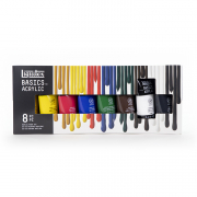 liquitex basics acrylic 8 tube set