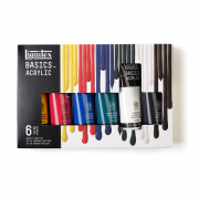 liquitex basics acrylics 6 tube set