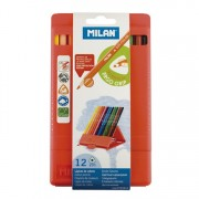 ML0729312 Milan Flexibox Triangular Colored Pencils 12ct