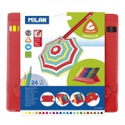 ML0729324 Milan Flexibox Triangular Colored Pencils 24ct