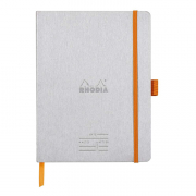 Rhodia Meeting Book 6 x 8.25 (A5) Silver cover