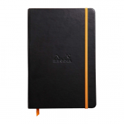 Rhodia Webnotebook 5.5 x 8.5 (A5) Lined Black Cover