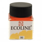 Talens Ecoline Liquid Watercolor 30ml Jar Deep Yellow