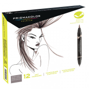 Prismacolor Premier Double Ended Brush Marker Warm Gray Set