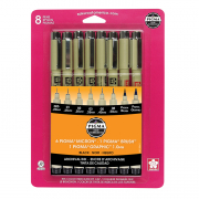 sakura pigma 8-pack black pen