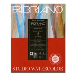 Fabriano Studio Watercolor Pad11 x 14 140lb Hot Press