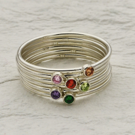 Sterling Silver Birthstone Rings - Express Order Form