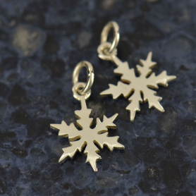 A1054   -SV-CHRM Sterling Silver Snowflake Charm - Christmas Charms