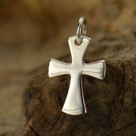 A1077   -SV-CHRM Sterling Silver Celtic Cross Charm