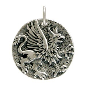 Sterling Silver Ancient Coin Charm - Griffin