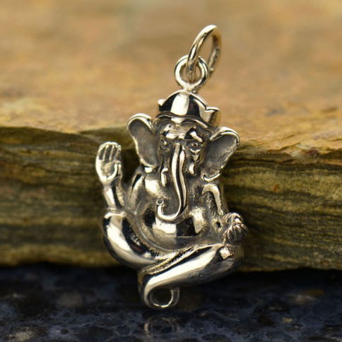A1091   -SV-CHRM Sterling Silver Ganesh Charm or Link