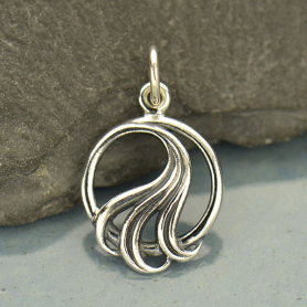 A1114   -SV-CHRM Sterling Silver Tiny Wave Charm DISCONTINUED