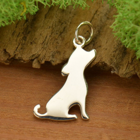A1218   -SV-CHRM Sterling Silver Dog Charm - Pet Charm