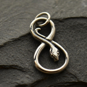 A1220   -SV-CHRM Sterling Silver Infinity Snake Charm