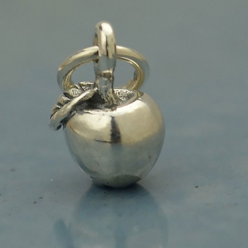 A1226   -SV-CHRM Sterling Silver Apple Charm - Food Charm