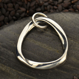 A1336   -SV-CHRM Sterling Silver Mobius Charm