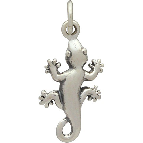 Sterling Silver Gecko Charm Animal Charm