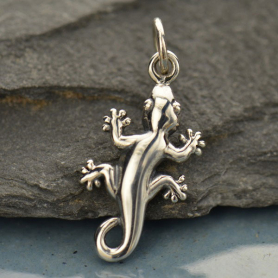 A1352   -SV-CHRM Sterling Silver Gecko Charm Animal Charm