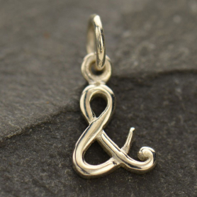 A1390   -SV-CHRM Silver Ampersand Charm - And Symbol Charm DISCONTINUED