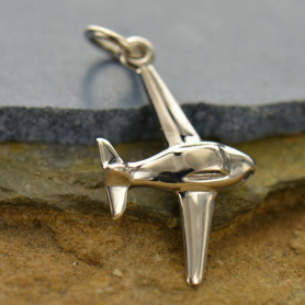 A1391   -SV-CHRM Sterling Silver Airplane Charm
