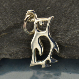 A1399   -SV-CHRM Sterling Silver Baby Penguin Charm - Animal Charms