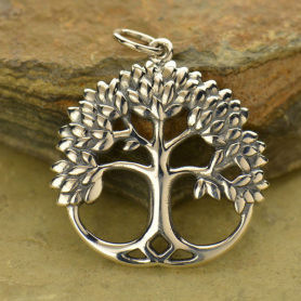 A1401   -SV-CHRM Sterling Silver Tree Pendant