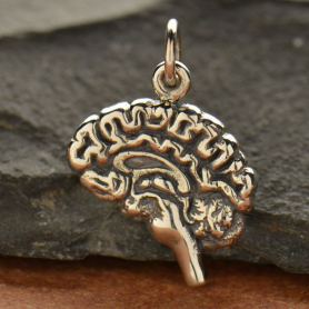 A1443   -SV-CHRM Sterling Silver Brain Charm